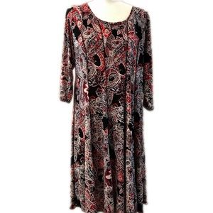 Established 1946 paisley dress with pleats